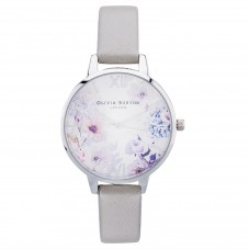 Olivia Burton Sunlight Florals Lilac Leather Strap Watch OB16EG139