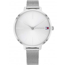 Tommy Hilfiger Project Z Stainless Steel White Silver Sunray Dial Mesh Strap Watch 1782163
