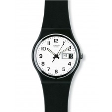 Swatch Gents Black Rubber Strap Once Again Watch GB743