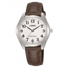 Lorus Ladies Brown Leather Strap Watch RG241TX9