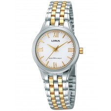 Lorus Ladies White Dial Two Tone Bracelet Watch RRS99TX9