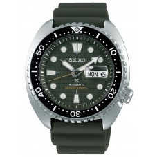 Seiko Mens Prospex Turtle Green Rubber Strap Green Dial Watch SRPE05K1