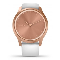 Garmin Vivomove Style Rose Gold White Rubber Strap Watch 010-02240-00