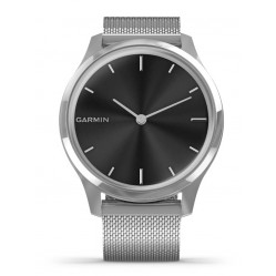 Garmin Vivomove Luxe Stainless Steel Milanese Strap Watch 010-02241-03