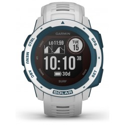 Garmin Instinct Solar Surf Edition Cloudbreak Rubber Strap Watch 010-02293-08