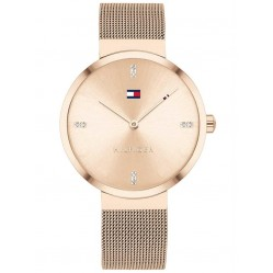 Tommy Hilfiger Ladies Liberty Pale Gold Plated Mesh Bracelet Watch 1782218