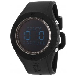Juicy Couture Ladies Black Rubber Strap Watch 1900884