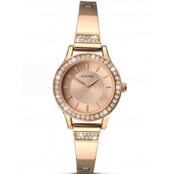 Sekonda Ladies Rose Gold Plated Crystal Set Watch 2203