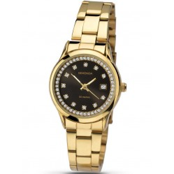 Sekonda Ladies Gold Plated Stone Set Dial Bracelet Watch 2290