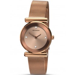 Sekonda Ladies Rose Gold Plated Mesh Bracelet Watch 2301