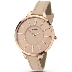 Sekonda Ladies Nude Leather Strap Watch 2316