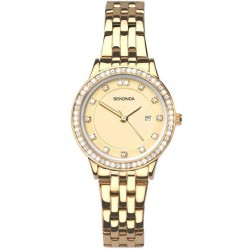 Sekonda Ladies Harmony Gold Plated Stone Set Bracelet Watch 2390