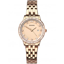 Sekonda Ladies Harmony Rose Gold Plated Stone Set Bracelet Watch 2391