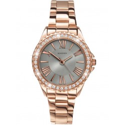 Sekonda Ladies Editions Temptations Rose Gold Plated Stone Set Bracelet Watch 2397