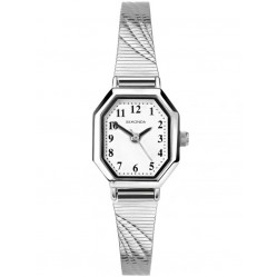 Sekonda Ladies Stainless Steel White Octagon Bracelet Watch 2402