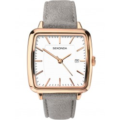 Sekonda Ladies Rose Gold-Plated Strap Watch 2451