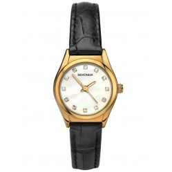 Sekonda Ladies Gold Plated Leather Strap Watch 2461