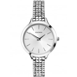Sekonda Ladies Silver Tone Beaded Bracelet Watch 2476