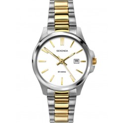 Sekonda Ladies Two Colour Stainless Steel Bracelet Watch 2439