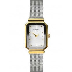 Sekonda Ladies Silver Stone Set Stainless Steel Bracelet Watch 2464