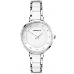 Sekonda Ladies White Bracelet Watch 2642