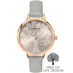 Sekonda Ladies Editions Rose Gold Plated Tree Of Life Watch 2649