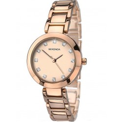 Sekonda Ladies Gold Dial Steel Bracelet Watch 2066