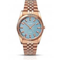 Sekonda Ladies Gold Plated Bracelet Blue Dial Watch 2090