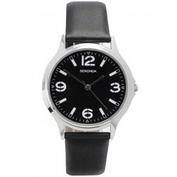 Sekonda Mens Black Dial Watch 3285