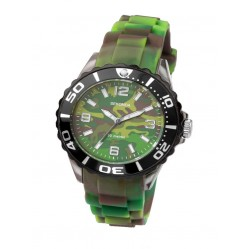 Sekonda Childrens Green Rubber Camouflage Watch 3391