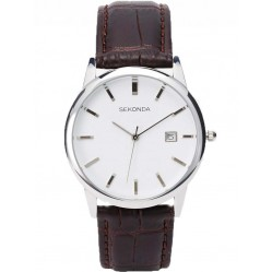 Sekonda Mens Brown Strap Watch 1010