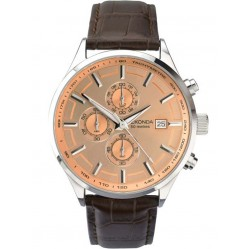 Sekonda Mens Brown Strap Watch 1105