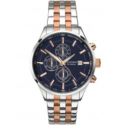 Sekonda Mens Velocity Two Tone Rose Gold Plated Silver Chronograph Bracelet Watch 1107