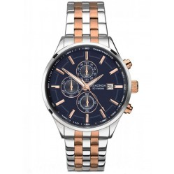Sekonda Mens Two Tone Chronograph Watch 1107