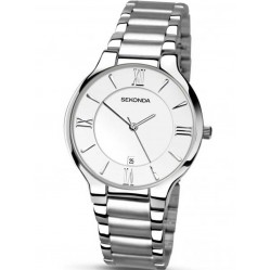 Sekonda Mens Silver Toned Watch 1154