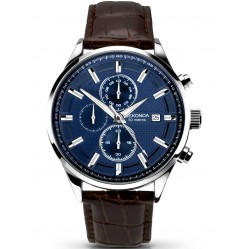 Sekonda Mens Chronograph Brown Strap Watch 1186