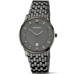 Sekonda Mens Black IP Bracelet Watch 1386