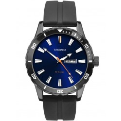 Sekonda Mens Blue Stainless Steel Bracelet Watch 1372