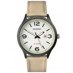Sekonda Mens Luminous Dial Canvas Strap Watch 1508