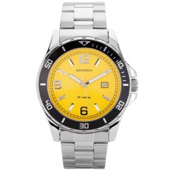 Sekonda Mens Yellow Dial Bracelet Watch 1511
