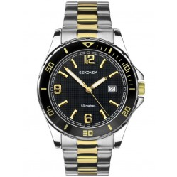 Sekonda Mens Two Tone Black Watch 1581