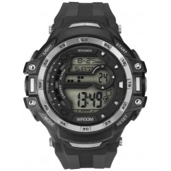 Sekonda Mens Black Rubber Digital Watch 1521