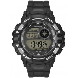 Sekonda Mens Black Red Rubber Digital Watch 1523