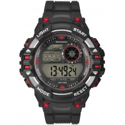 Sekonda Mens Black Rubber Digital Watch 1522