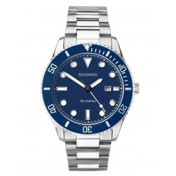 Sekonda Mens Blue Date Dial Bracelet Watch 1789
