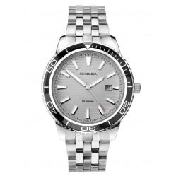 Sekonda Mens Grey Date Dial Black Bezel Bracelet Watch 1791