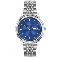 Sekonda Mens Classic Blue Sunray Dial Stainless Steel Bracelet Watch 1731
