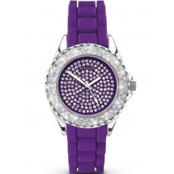 Sekonda Ladies Party Time Purple Rubber Strap Watch 4581