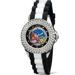 Sekonda Ladies Skeleton Rubber Strap Watch 4696