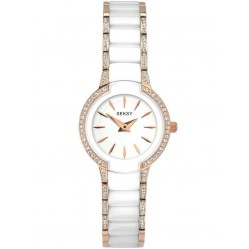 Sekonda Ladies Seksy Entice Two Tone White Rose Gold Plated Stone Set Bracelet Watch 2381
